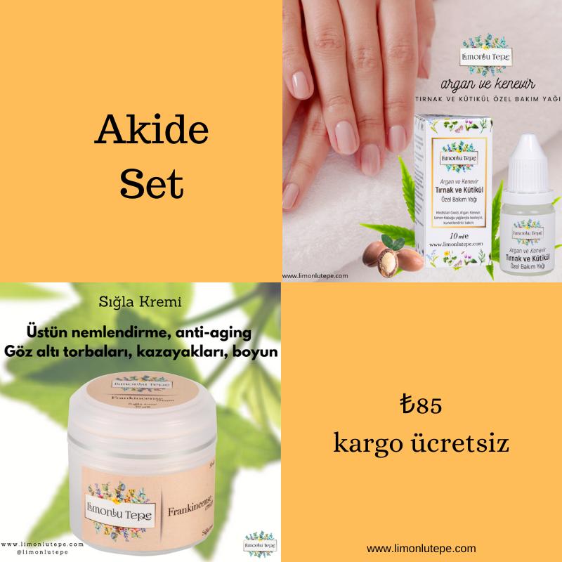 Akide Set - (Sığla Kremi + Tırnak Kütikül Öz...