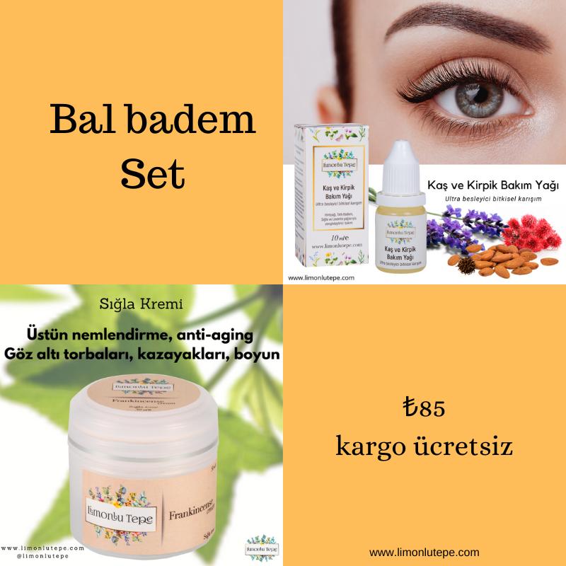 Bal badem Set - (Sığla Kremi + Kaş Kirpik Bakı...
