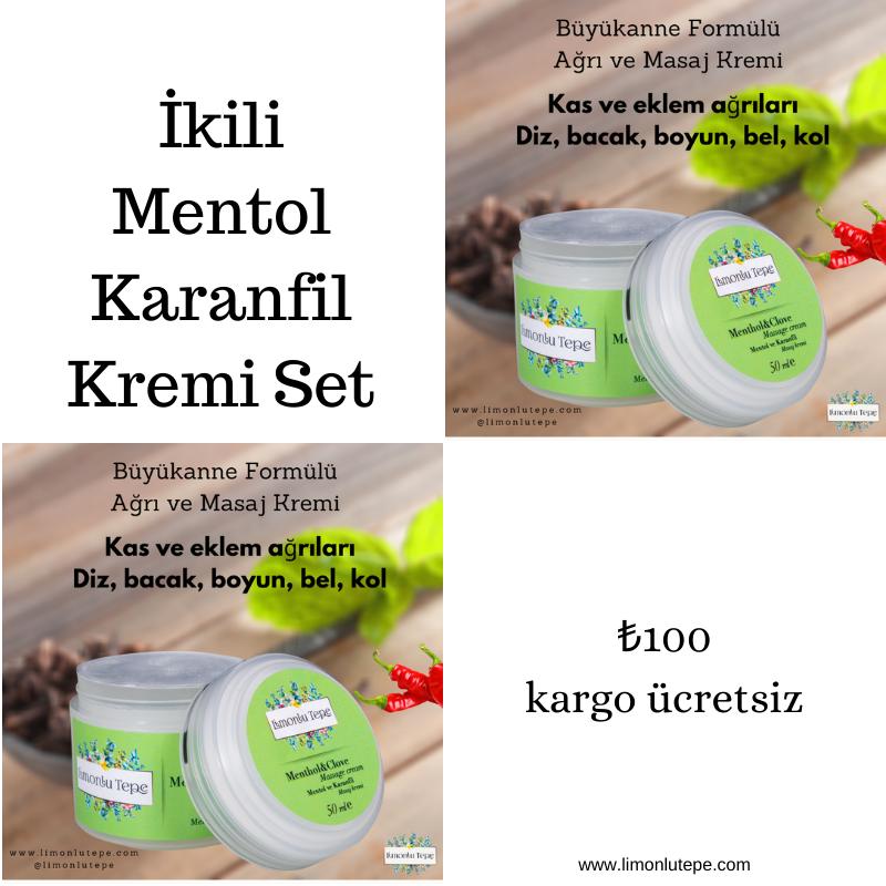Set Ürün 2'li Mentol Karanfil Kremi