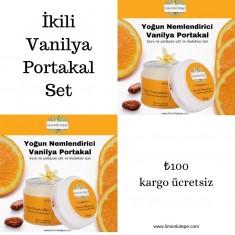 Set Ürün Yoğun Nemlendirici Vanilya Portakal- 2 x 50 ML